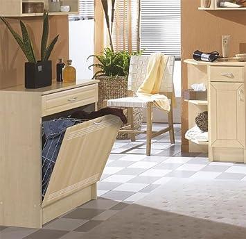 Badezimmer Wäscheschrank Buche: Amazon.de: Küche & Haushalt