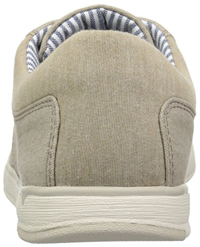 CLARKS Mens Step Isle Lace Sneaker, Sand Canvas, 11.5 Medium US
