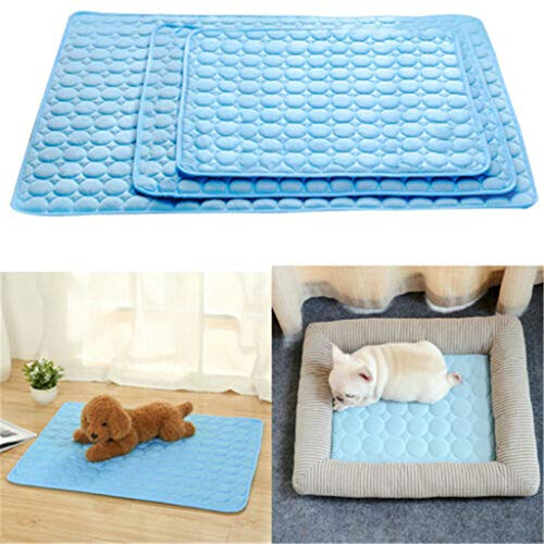 (Glumes Dog Cooling Mat Machine Washable Pet Cats Dogs Cooling Pad Activated Gel Extra Large Cooling Pad for Dogs & Pets Dog Accessories No Need To Freeze Or Chill - Keep Your Dog Cool and Reduce Joint Pain (L))