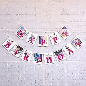 Ningz0l Decoraciones Cumpleaños, Letras Cuadradas Feliz ...