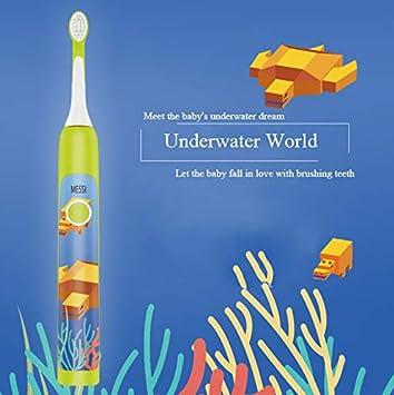 GCC Niños De Dibujos Animados Cepillo De Dientes Eléctrico 3-6-12 Años De Edad Suave Inducción De Carga De Cepillo De Dientes Sonic Regalo,Underwaterworld: ...