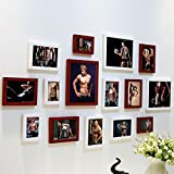 Home@Wall photo frame DIY Photo Frame Sets,Living Room Photo Frame Wall Creative Combination Sofa Background Frames Sets Of 15 ( Color : G , Size : 15frames/13575CM )