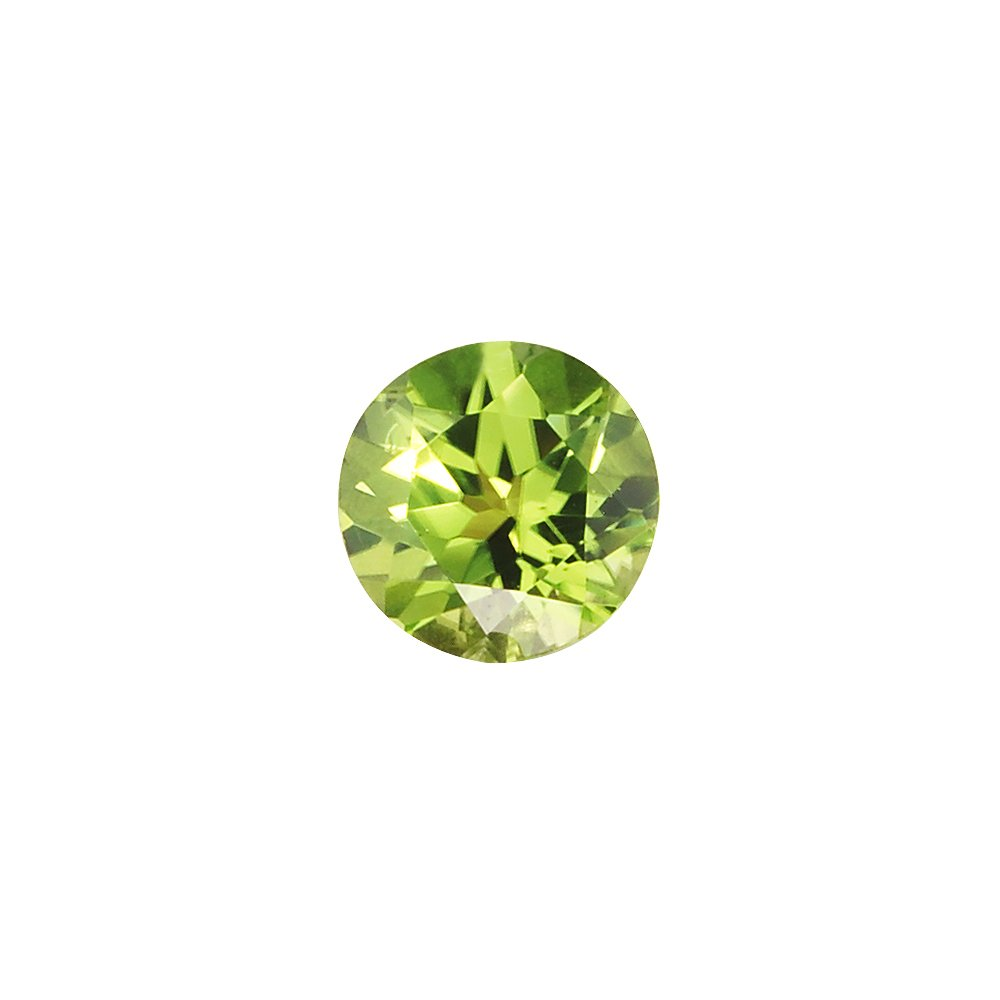 Mysticdrop 1.32-1.77 Cts of 7 mm AAA Round Peridot (1 pc) Loose Gemstone