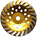 "7"" Concrete Turbo Diamond Grinding Cup Wheel for Angle Grinder 24 Segs"