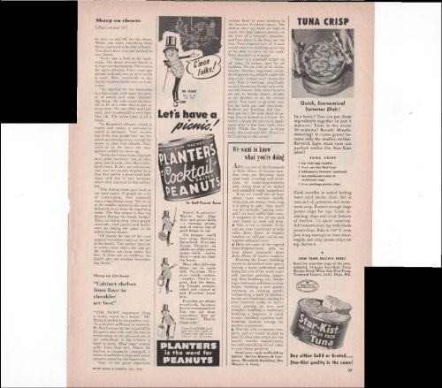 planters-cocktail-salted-peanuts-star-kist-fancy-solid-pack-tuna-home-food-1948-vintage-antique-adve