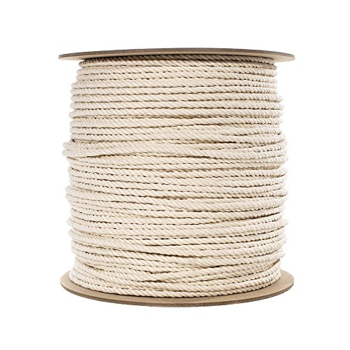 100 feet of 1/4 Inch Super Soft Natural Cotton Rope ()