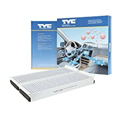 Pollen, allergens, various fuel-based contaminants from the outside road environment all pass into and are filtered by your vehicle's Cabin Air Filter, or CAF. A TYC CAF is designed to have the same or better filtration efficiency as the orig...