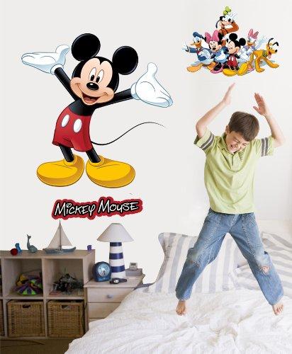 Disney Mickey u0026 Friends Mickey Mouse Wall Decal Cutout 36.5u0026quot ... & Amazon.com: Disney Mickey u0026 Friends Mickey Mouse Wall Decal Cutout ...
