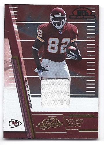 DWAYNE BOWE 2007 Playoff Absolute Memorabilia Rookie Jersey Collection #10 JERSEY RC Rookie Card Kansas City Chiefs -