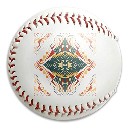 Wontun Seamless Texture Tribal Geometric Pattern Aztec Customized Low Impact Safety Softball Baseball Training for Indoor and Outdoor Practice Competition (Aztec Pitching Machine)
