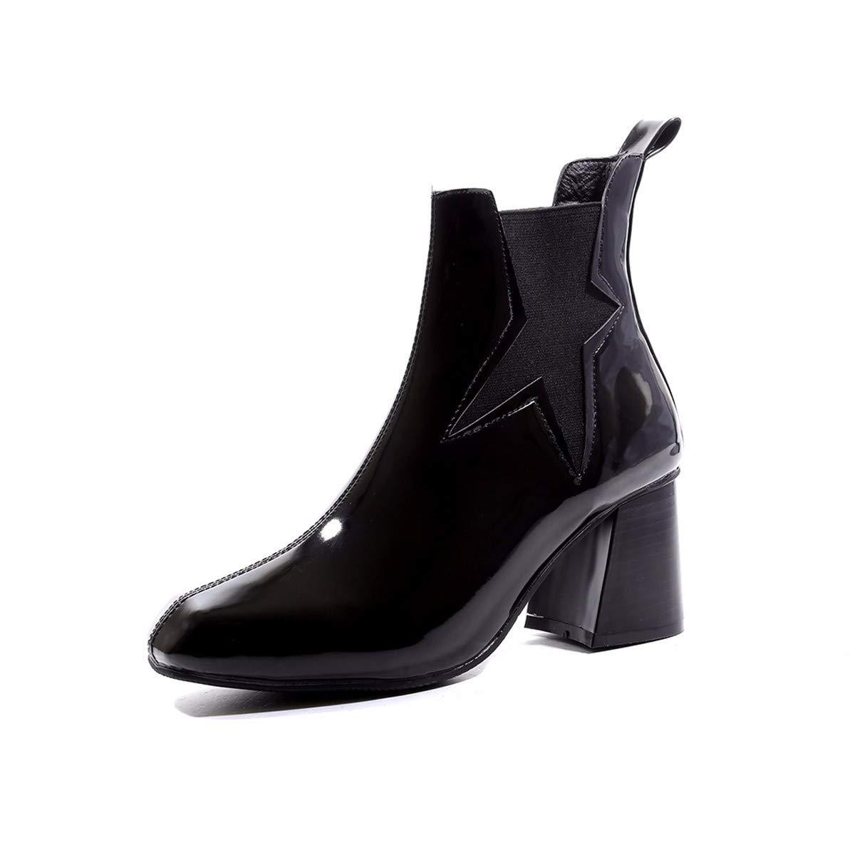 LBTSQ-Mode/Damenschuhe/Kurze Stiefel High 7Cm Harte Sohle Martin Stiefel Studenten Ritter Stiefel.