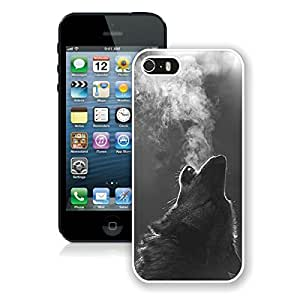 Awesome Apple Iphone 5s Case Winter Wolf Howling Cool Animal Design Soft Silicone TPU White Mobile Phone Cover for Iphone 5 by lolosakes