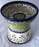 Polish Pottery Raised Cat Small Dog Dry Food Dish or Water Bowl – Unikat P316 Wisteria, My Pet Supplies
