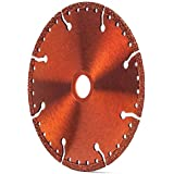 "All-Purpose 4 1/2-Inch (4.5"") Metal Cutting Diamond Blade, Wet or Dry with Cooling Holes for Steel, Rebar, Sheet Metal, Pipe, Angle Iron, Wood and Plastics (4 1/2-Inch)"