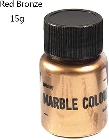 ATATMOUNT 15g Espejo Textura de Metal Polvo de Perla Resina epoxi colorante Brillo mármol Pigmento metálico Resina Tinte fabricación de Joyas