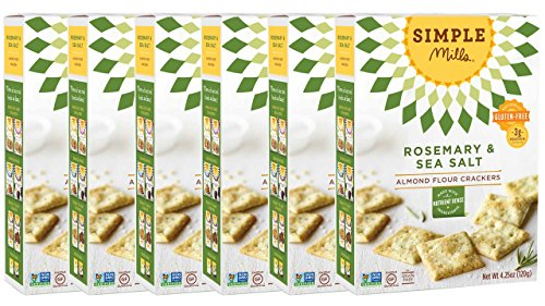 Simple Mills Almond Flour Crackers, Rosemary & Sea Salt, 4.25 oz, 6 count