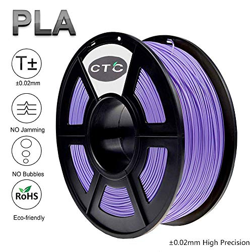 CTC 3D Printer Filament PLA 1.75mm - Purple(Dimensional Accuracy +/- 0.02 mm) Environmentally Friendly PLA 3D Filament for 3D Printer and 3D Pen