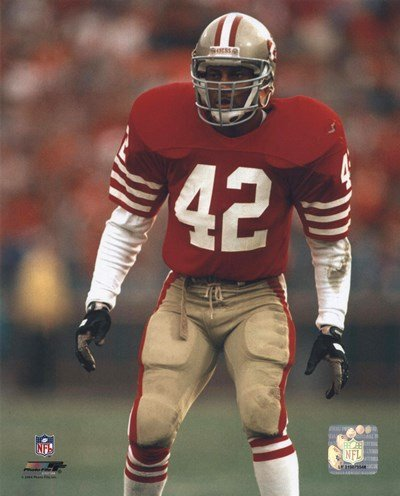 Ronnie Lott - Action - Art Print Poster