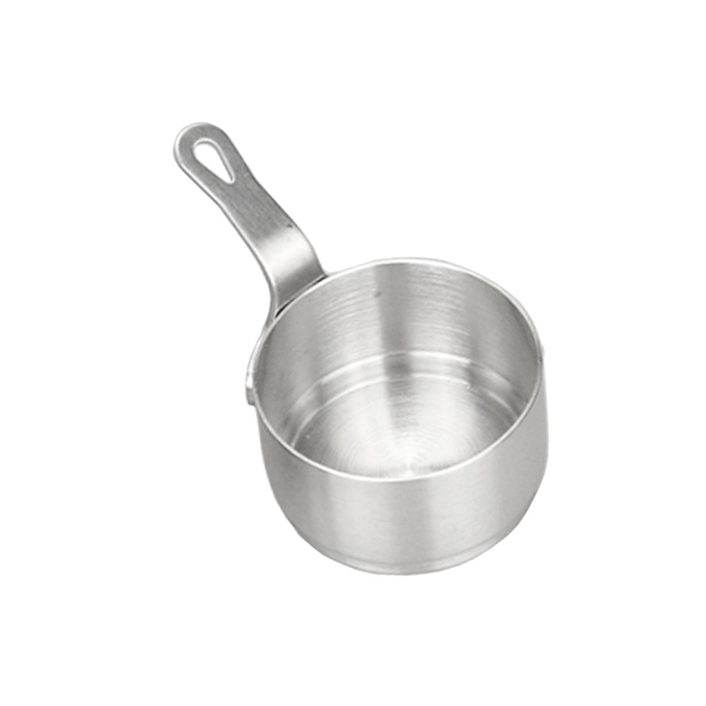 Fityle Mini Sacuepan Butter Coffee Milk Warmer Mini Butter Melting Pot, Sauce Serving Pan, Stainless Steel - 50ml