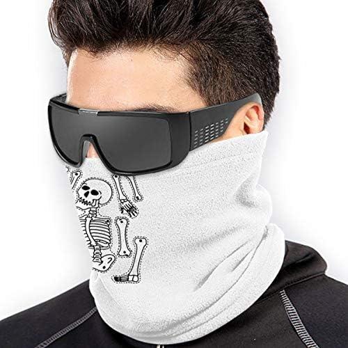 Halloween Skull Skeleton ネックガード 伸縮 通気性 バンダナ 通勤 通学 フェイスガード 多機能 日よけ サイクリングカバー