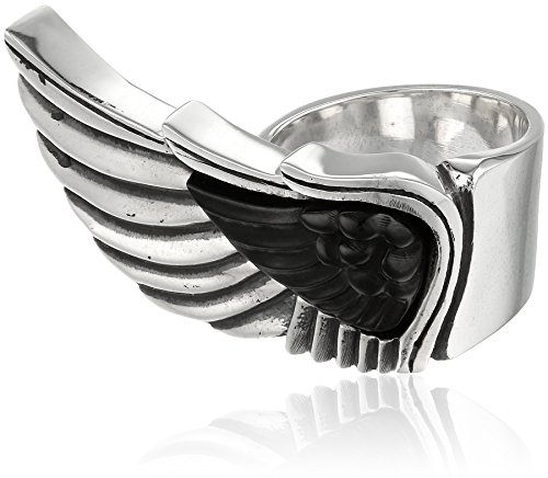 King Baby Wing with Jet Ring