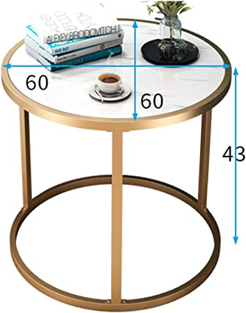 Round Side Table End Table Tea Coffee Lamp Telephone Stand Modern Home Furniture