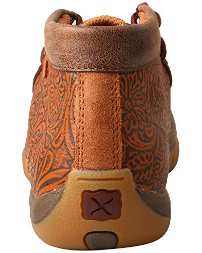 up Driving Tan Moccasins Leather Sole X Women's Twisted Lace Turquoise Rubber Brown nF1ICRq