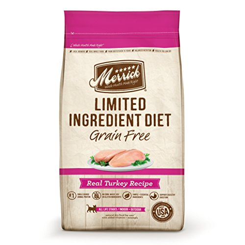 Merrick Limited Ingredient Diet Grain Free Turkey Dry Cat Food, 12 Lbs.