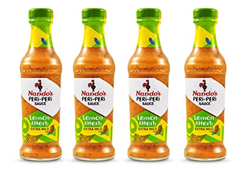 - Nando's Lemon & Herb PERi-PERi Sauce - Gluten Free   Non GMO   4.7 Oz (4 Pack)