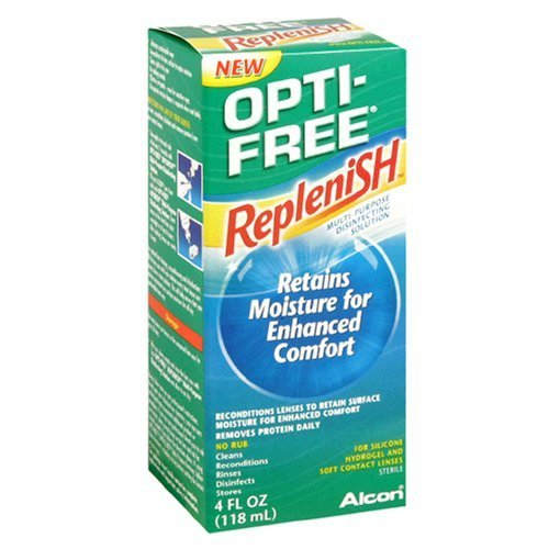 Opti-Free Replenish Multi-Purpose Solution désinfectante, 4 fl oz (118 ml) (Pack de 4)