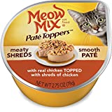 Meow Mix Pat� Toppers With Real Chicken Topped With Shreds of Chicken Wet Cat Food, 2.75-Ounce Cups (Pack of 12)