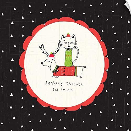 CANVAS ON DEMAND Dashing Through The Snow Wall Peel Art Print, 16