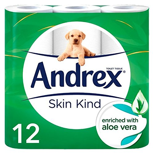 Andrex Skin Kind Enriched with Aloe Vera Toilet Tissue Rolls