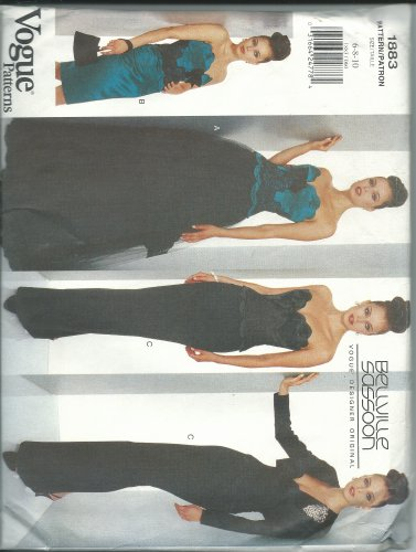 vogue-1883a-sewing-pattern-misses-bellville-sassoon-design-evening-wear-size-6-10