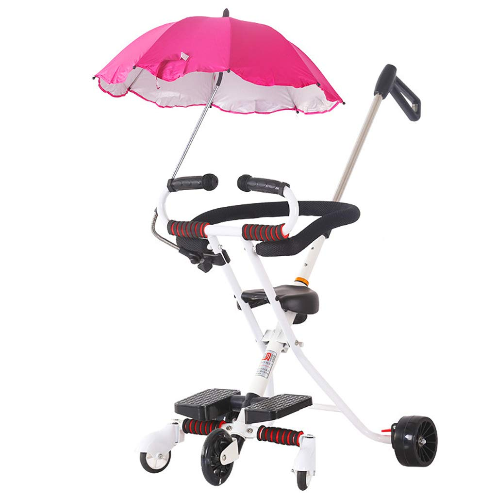 Lightweight Foldable Baby Pushchair - Kid's Stroller Carrycot Travel System 5 Wheel High Landscape Toddlers Prams, 96 cm(Fold: 7852cm)