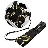 CoWalkers Entrenador de fútbol, Football Kick Throw Práctica Individual Ayuda para el Entrenamiento Habilidades de Control Cinturón Ajustable para niños Adultos(Sólo cinturón de Entrenamiento)