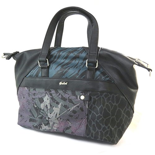 Bolsa de diseñador 'Gabol'multicolor negro.