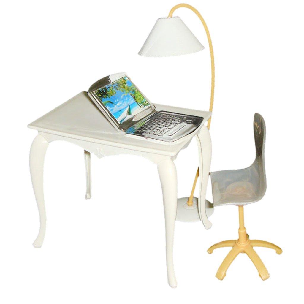4pcs   Set Büro Accs Tischstuhl Pc Lampe Für 29cm Puppen Zufällige Farbe   Amazon.de  Spielzeug 247f09db76