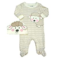 Babies R Us Infant Girls Baby Lamb Coveralls & Hat Set Sleeper Outfit 3m