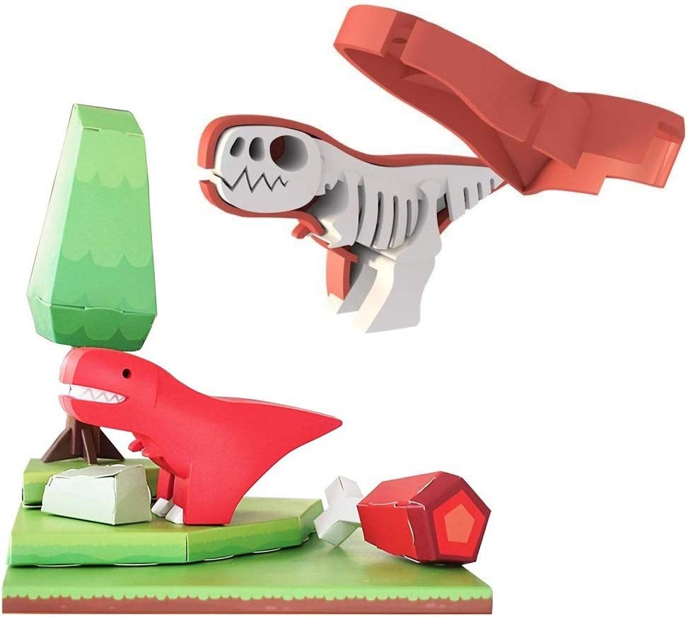 HALFTOYS: My Cute and Crafty Pet Dinosaur, T-Rex (Craft, Magnet, Puzzle, Play and Display!)