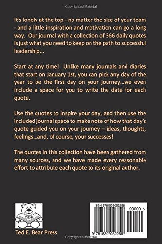 366 Daily Quotes For Leaders 2 Day Per Page Journal Catherine M