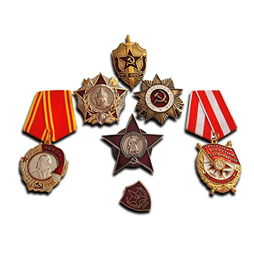 Trikoty Highest Soviet Military Medals Selection | 7X Medal/Badge | Elite Award Collection Antique Reproduction USSR Gift ()