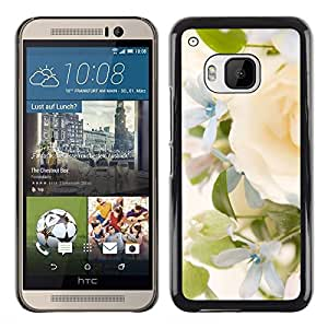 DEMAND-GO Smartphone Rígido Protección única Imagen Carcasa Funda Tapa Skin Cover Case Para HTC One M9 - yellow rose green spring bright bride