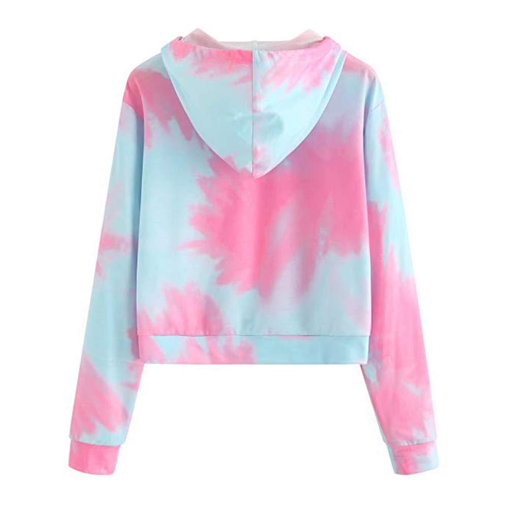 Adolescentes Chicas Sudaderas Cortas con Capucha Tumblr Estampado Casual Tops Blusas Camiseta para Mujer: Amazon.es: Ropa y accesorios