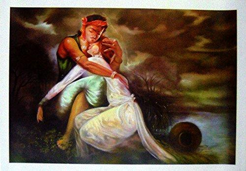 Sohni Mahiwal Indian Poster/ Art of India: Reprint on Paper
