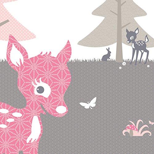 Kinderzimmer tapete rosa grau bibkunstschuur - Kinderzimmer grau rosa ...