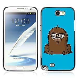 A-type Arte & diseño plástico duro Fundas Cover Cubre Hard Case Cover para Samsung Galaxy Note 2 II / N7100 ( monstruo divertido )