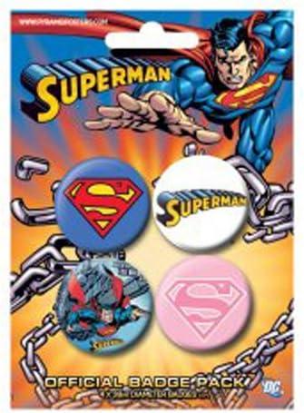 Superman Chapas Pin Set (Pack de 4 Pins) Pyramid International: Amazon.es: Deportes y aire libre