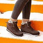 Bottes de Neige Femme Fourees Mode Chaussure Homme Hiver Basse Baskets Bottines Hiver Chaude Doublure Plates Noir Bleu… 9