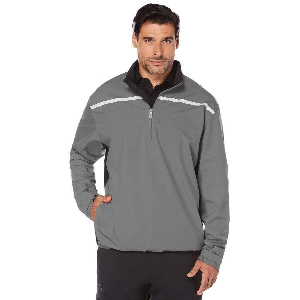 Callaway Men's Opti-Repel Long Sleeve Water Resistant 1/4 Zip Stretch Windshirt, Medium, Quiet Shade